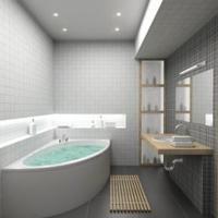Grijze tegels in de badkamer voor op de vloer of muur.